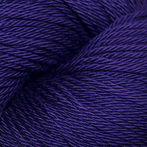 Skein of Cascade Ultra Pima DK weight yarn in the color Deep Periwinkle (Purple) for knitting and crocheting.