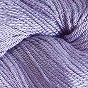 Skein of Cascade Ultra Pima DK weight yarn in the color Delphinium (Purple) for knitting and crocheting.