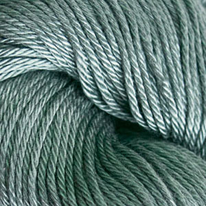 Skein of Cascade Ultra Pima DK weight yarn in the color Ginseng (Green) for knitting and crocheting.