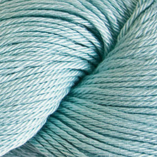 Load image into Gallery viewer, Skein of Cascade Ultra Pima DK weight yarn in the color Ice (Blue) for knitting and crocheting.