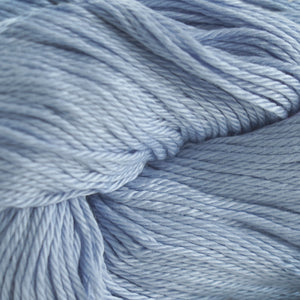 Skein of Cascade Ultra Pima DK weight yarn in the color Ice Blue (Blue) for knitting and crocheting.
