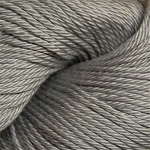 Skein of Cascade Ultra Pima DK weight yarn in the color Light Grey (Gray) for knitting and crocheting.