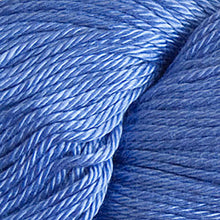 Load image into Gallery viewer, Skein of Cascade Ultra Pima DK weight yarn in the color Periwinkle (Blue) for knitting and crocheting.
