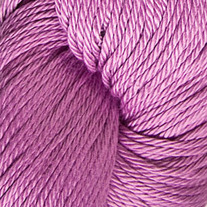 Skein of Cascade Ultra Pima DK weight yarn in the color Pink Rose (Pink) for knitting and crocheting.