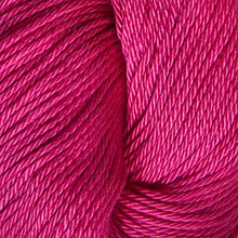Load image into Gallery viewer, Skein of Cascade Ultra Pima DK weight yarn in the color Pink Sapphire (Pink) for knitting and crocheting.