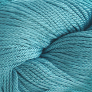 Skein of Cascade Ultra Pima DK weight yarn in the color Stratosphere (Blue) for knitting and crocheting.