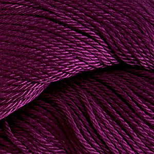 Skein of Cascade Ultra Pima DK weight yarn in the color Syrah (Purple) for knitting and crocheting.