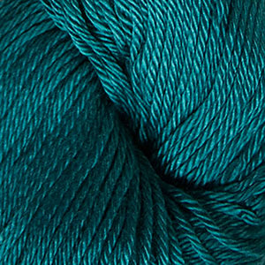 Skein of Cascade Ultra Pima DK weight yarn in the color Teal (Blue) for knitting and crocheting.
