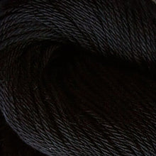 Load image into Gallery viewer, Skein of Cascade Ultra Pima DK weight yarn in the color True Black (Black) for knitting and crocheting.