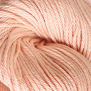 Skein of Cascade Ultra Pima DK weight yarn in the color White Peach (Orange) for knitting and crocheting.