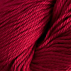 Skein of Cascade Ultra Pima DK weight yarn in the color Wine (Red) for knitting and crocheting.