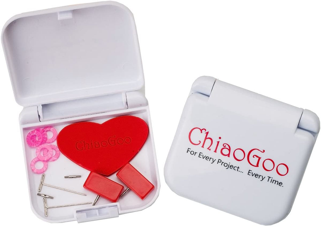 The Chiaogoo Mini Tools Accessories Kit includes extra cord connectors, end stoppers, grippers and more.