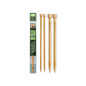 "3 different sizes of Clover 9"" Takumi Single-Point Knitting Needles"