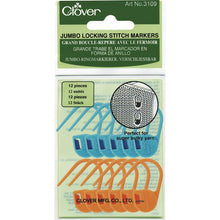 Load image into Gallery viewer, Clover Jumbo Locking Stitch Markers in packaging