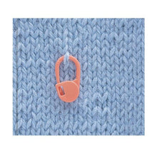 Load image into Gallery viewer, Clover Locking Stitch Markers on knitted fabric