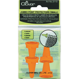Set of 4 Clover Jumbo Point Protectors for large knitting needles in packaging