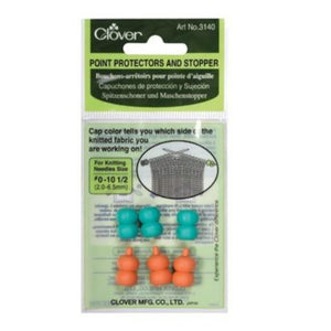 Clover Point Protectors and Stoppers for knitting needles