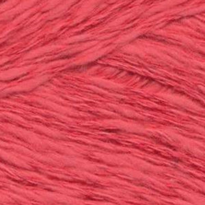 Skein of Juniper Moon Zooey DK weight yarn in color Rigging (Red) for knitting and crocheting.