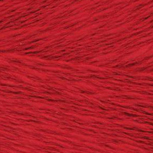 Skein of Juniper Moon Zooey DK weight yarn in color Tell-Tale (Red) for knitting and crocheting.
