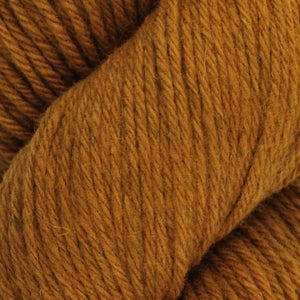 Skein of Juniper Moon Farms Santa Cruz Worsted weight yarn in the color Cardamom (Yellow) for knitting and crocheting.