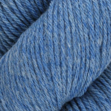 Load image into Gallery viewer, Skein of Juniper Moon Farms Santa Cruz Worsted weight yarn in the color Cerulean (Blue) for knitting and crocheting.