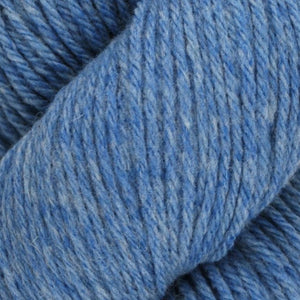 Skein of Juniper Moon Farms Santa Cruz Worsted weight yarn in the color Cerulean (Blue) for knitting and crocheting.