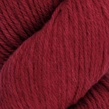 Load image into Gallery viewer, Skein of Juniper Moon Farms Santa Cruz Worsted weight yarn in the color Saffron (Red) for knitting and crocheting.