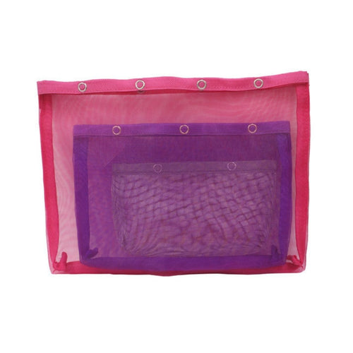 Knitter's Pride 3-Piece Mesh Pouch Set for holding knitting and crochet notions and tools.