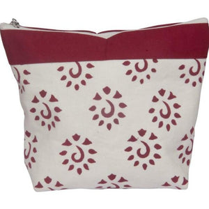 Burgundy Knitter's Pride Big Zipper Pouches for holding knitting and crochet notions and tools.