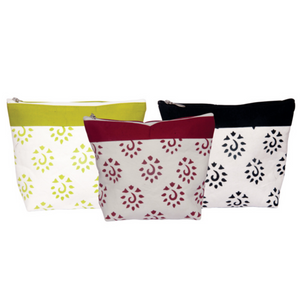 Knitter's Pride Big Zipper Pouches for holding knitting and crochet notions and tools.