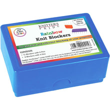 Load image into Gallery viewer, Box of Knitter's Pride colorful blocking pins for knitting and crochet projects.