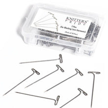 Load image into Gallery viewer, Knitter's Pride Plastic box of Steel T-Pins for blocking knitting and crochet proejcts