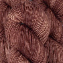 Load image into Gallery viewer, Skein of Madelinetosh A.S.A.P. Super Bulky weight yarn in the color Cold Drip (Brown) for knitting and crocheting.
