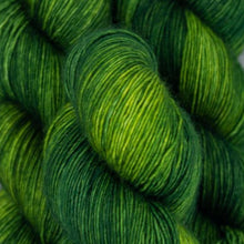 Load image into Gallery viewer, Skein of Madelinetosh A.S.A.P. Super Bulky weight yarn in the color Jade (Green) for knitting and crocheting.