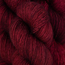 Load image into Gallery viewer, Skein of Madelinetosh A.S.A.P. Super Bulky weight yarn in the color Tart (Red) for knitting and crocheting.