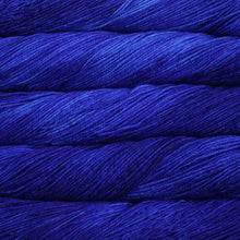 Load image into Gallery viewer, Skein of Malabrigo Arroyo Sport weight yarn in the color Matisse Blue (Blue) for knitting and crocheting.