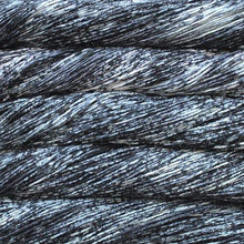 Load image into Gallery viewer, Skein of Malabrigo Arroyo Sport weight yarn in the color Pleiades (Black) for knitting and crocheting.