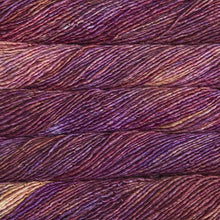 Load image into Gallery viewer, Skein of Malabrigo Mecha Bulky weight yarn in the color Archangel (Purple) for knitting and crocheting.