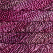 Load image into Gallery viewer, Skein of Malabrigo Mecha Bulky weight yarn in the color English Rose (Pink) for knitting and crocheting.