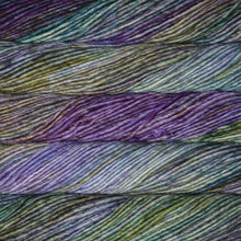 Load image into Gallery viewer, Skein of Malabrigo Mecha Bulky weight yarn in the color Indiecita (Multi) for knitting and crocheting.