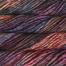 Load image into Gallery viewer, Skein of Malabrigo Rasta Super Bulky weight yarn in the color Aniversario (Red) for knitting and crocheting.
