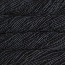 Load image into Gallery viewer, Skein of Malabrigo Rasta Super Bulky weight yarn in the color Black (Black) for knitting and crocheting.