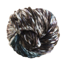 Load image into Gallery viewer, Skein of Malabrigo Rasta Super Bulky weight yarn in the color Carousel (Black) for knitting and crocheting.