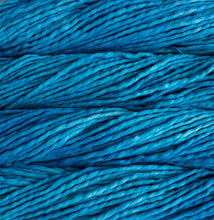 Load image into Gallery viewer, Skein of Malabrigo Rasta Super Bulky weight yarn in the color Cian (Blue) for knitting and crocheting.