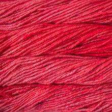 Load image into Gallery viewer, Skein of Malabrigo Rasta Super Bulky weight yarn in the color Fiesta (Red) for knitting and crocheting.
