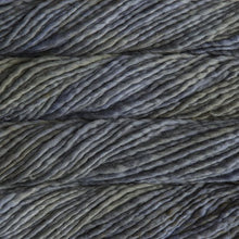 Load image into Gallery viewer, Skein of Malabrigo Rasta Super Bulky weight yarn in the color Garden Gate (Gray) for knitting and crocheting.