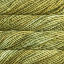Load image into Gallery viewer, Skein of Malabrigo Rasta Super Bulky weight yarn in the color Lettuce (Green) for knitting and crocheting.