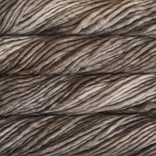Load image into Gallery viewer, Skein of Malabrigo Rasta Super Bulky weight yarn in the color Sombras (Brown) for knitting and crocheting.