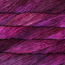 Load image into Gallery viewer, Skein of Malabrigo Rios Worsted weight yarn in the color Magenta (Pink) for knitting and crocheting.