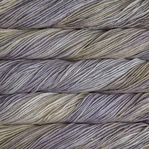 Skein of Malabrigo Rios Worsted weight yarn in the color Niebla (Gray) for knitting and crocheting.